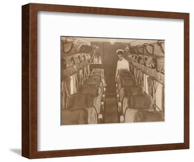 'The Saloon of a London-Paris Aeroplane', 1927-Unknown-Framed Photographic Print