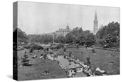 'The Upper Gardens', c1910-Unknown-Stretched Canvas Print