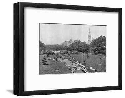 'The Upper Gardens', c1910-Unknown-Framed Photographic Print