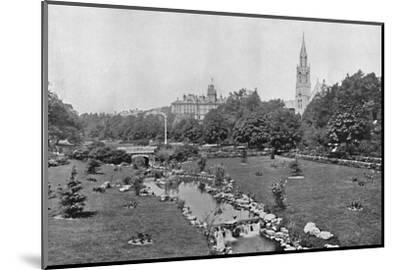 'The Upper Gardens', c1910-Unknown-Mounted Photographic Print