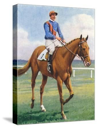 Panorama, Jockey: P. Beasley', 1939-Unknown-Stretched Canvas Print