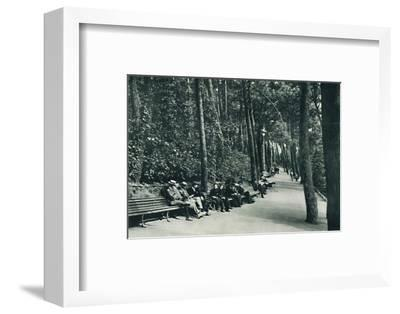 'The Invalid's Walk', c1910-Unknown-Framed Photographic Print