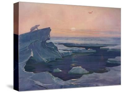 'Flying over the Polar Wastes', 1927-Unknown-Stretched Canvas Print