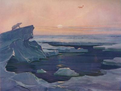 'Flying over the Polar Wastes', 1927-Unknown-Framed Giclee Print