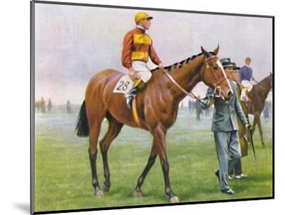 Contrevent, Jockey: A. Tucker', 1939-Unknown-Mounted Giclee Print