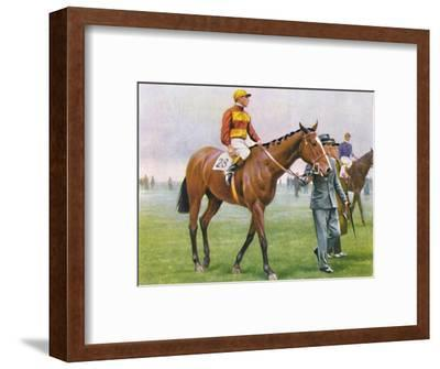 Contrevent, Jockey: A. Tucker', 1939-Unknown-Framed Giclee Print