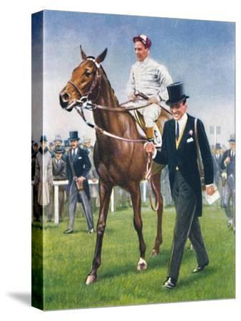 Bois Roussel, Jockey: E. C. Elliott', 1939-Unknown-Stretched Canvas Print