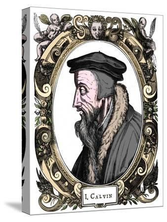 Jean Calvin, French theologian, 1581-Unknown-Stretched Canvas Print