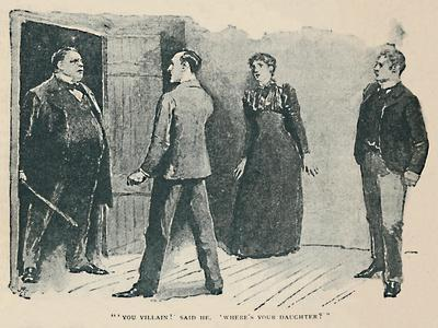'You Villain!' Said He. Where's My Daughter?', 1892-Sidney E Paget-Framed Giclee Print