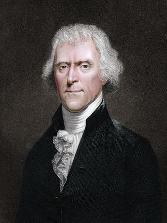 Thomas Jefferson, American president-Unknown-Framed Giclee Print