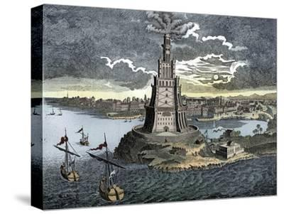 The Pharos of Alexandria, 18th century-Unknown-Stretched Canvas Print