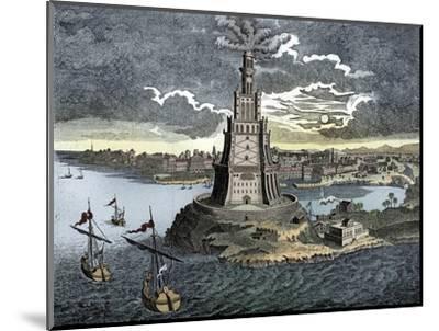 The Pharos of Alexandria, 18th century-Unknown-Mounted Giclee Print
