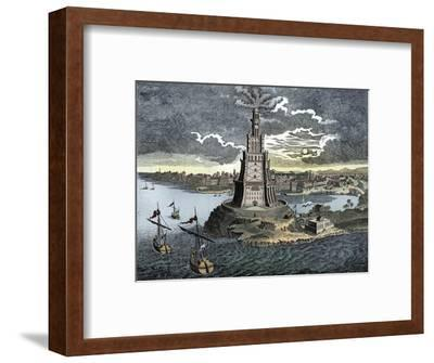 The Pharos of Alexandria, 18th century-Unknown-Framed Giclee Print