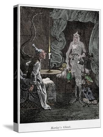 Scene from A Christmas Carol by Charles Dickens, 1843-Unknown-Stretched Canvas Print