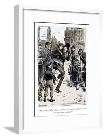 Scene from A Christmas Carol by Charles Dickens, 1843-Unknown-Framed Giclee Print