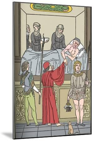 'Ketham: Fasciculus Medicinae, Venice, 1493, The Treatment Of The Plauge', c1493-Unknown-Mounted Giclee Print