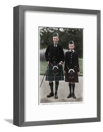 The Prince of Wales and Prince Henry, c1910(?)-Ernest Brooks-Framed Photographic Print