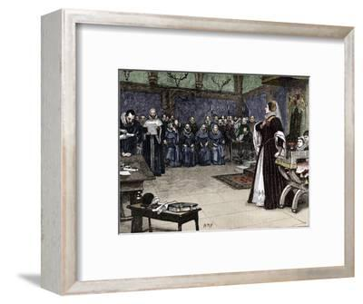 Trial of Mary Queen of Scots in Fotheringhay Castle, 1586 (1905)-Unknown-Framed Giclee Print