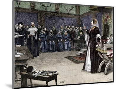Trial of Mary Queen of Scots in Fotheringhay Castle, 1586 (1905)-Unknown-Mounted Giclee Print