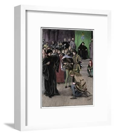 Joan of Arc, c1880-Unknown-Framed Giclee Print