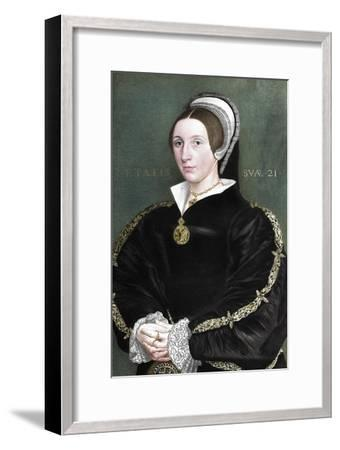 Unknown woman formerly thought to be Catherine Howard, 1902-Unknown-Framed Giclee Print