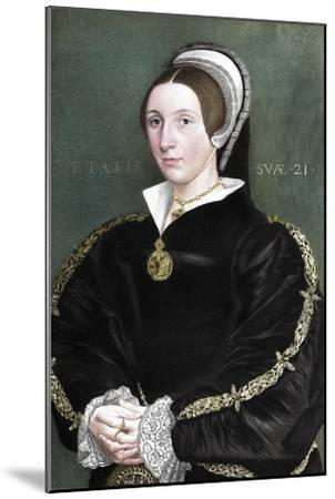 Unknown woman formerly thought to be Catherine Howard, 1902-Unknown-Mounted Giclee Print