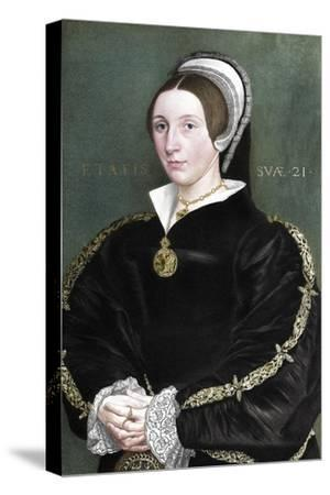 Unknown woman formerly thought to be Catherine Howard, 1902-Unknown-Stretched Canvas Print