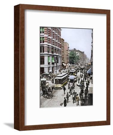 'Broadway, New York', 19th century-Unknown-Framed Photographic Print