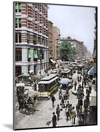 'Broadway, New York', 19th century-Unknown-Mounted Photographic Print