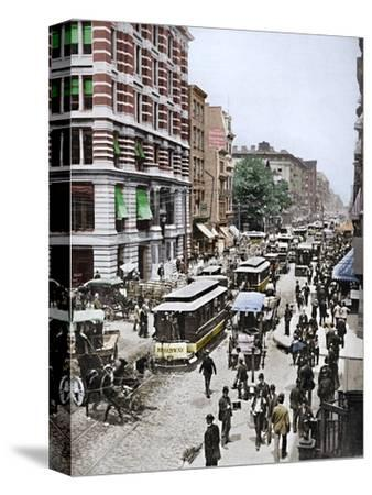 'Broadway, New York', 19th century-Unknown-Stretched Canvas Print