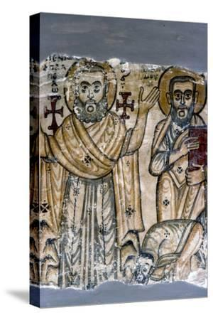 Two Saints, Coptic Wall Painting. Egypt, 6th century-Unknown-Stretched Canvas Print