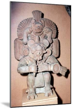 Pottery. Bat-God: pottery with red paint. Zapotec culture, Mexico, 300-900 AD-Unknown-Mounted Giclee Print