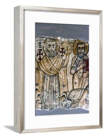 Two Saints, Coptic Wall Painting. Egypt, 6th century-Unknown-Framed Giclee Print