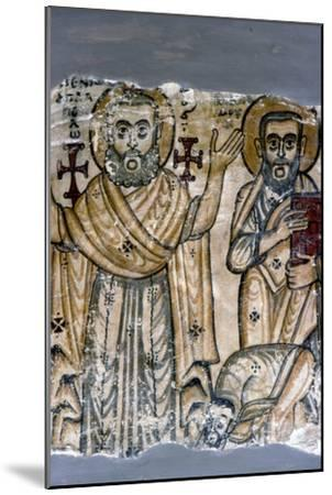 Two Saints, Coptic Wall Painting. Egypt, 6th century-Unknown-Mounted Giclee Print