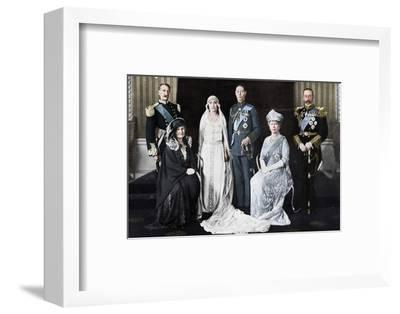 The wedding of the Duke of York and Lady Elizabeth Bowes-Lyon, 1923.-Unknown-Framed Photographic Print
