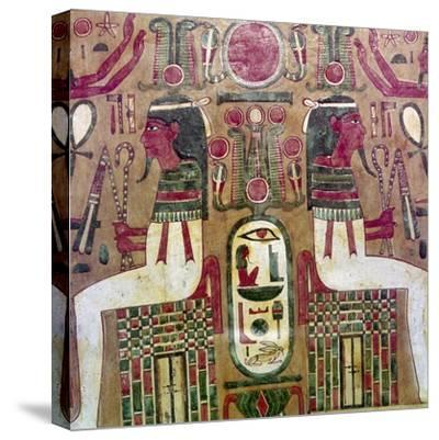 Detail of inside of coffin of Am Enemope, Thebes, XXI Dynasty, c1050BC-Unknown-Stretched Canvas Print