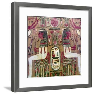 Detail of inside of coffin of Am Enemope, Thebes, XXI Dynasty, c1050BC-Unknown-Framed Giclee Print