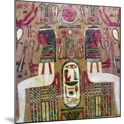 Detail of inside of coffin of Am Enemope, Thebes, XXI Dynasty, c1050BC-Unknown-Mounted Giclee Print