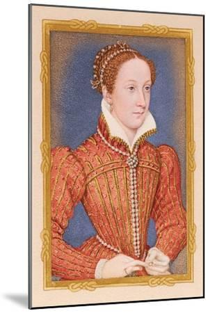 'Portrait - Mary, Queen of Scots', c16th century, (1904). Artists-Unknown-Mounted Giclee Print