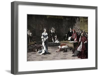 The trial of Queen Catherine, 1529 (1905)-Unknown-Framed Giclee Print
