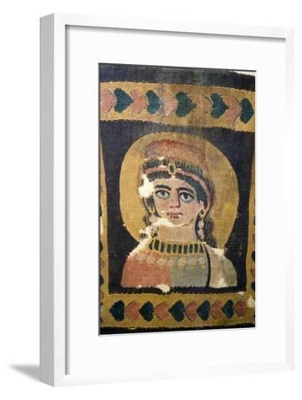 Coptic Textile Portrait of Ariadne, 5th century-Unknown-Framed Giclee Print