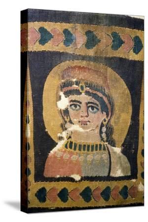 Coptic Textile Portrait of Ariadne, 5th century-Unknown-Stretched Canvas Print