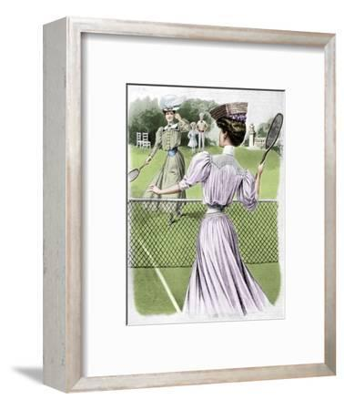 Two lawn tennis costumes for October, 1905-Unknown-Framed Giclee Print