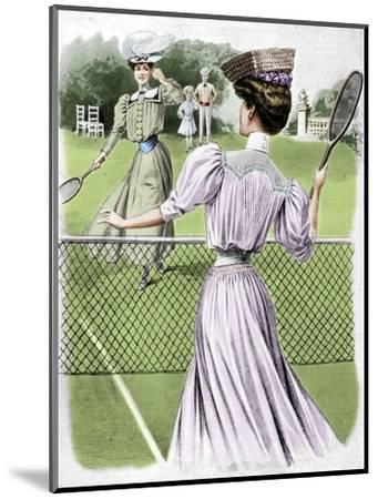 Two lawn tennis costumes for October, 1905-Unknown-Mounted Giclee Print