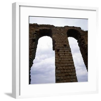 Roman Aqueduct, West of Tunis, c20th century-Unknown-Framed Giclee Print
