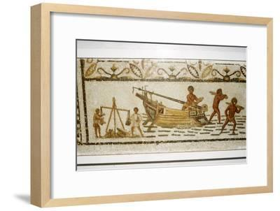 Roman Sea mosaic, 2nd-3rd century-Unknown-Framed Giclee Print