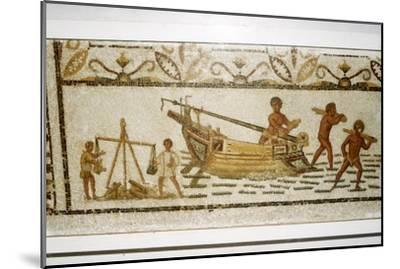 Roman Sea mosaic, 2nd-3rd century-Unknown-Mounted Giclee Print
