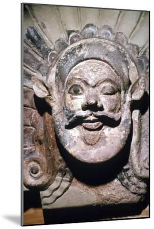 Etruscan Terracotta Antefix, Head of Silenus, from sanctuary of Portonaccio, 6th-5th century BC-Unknown-Mounted Giclee Print