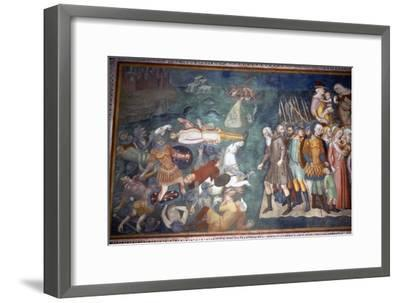 Moses and Israelites Cross the Red Sea, San Gimignano, Italy, 14th century-Unknown-Framed Giclee Print