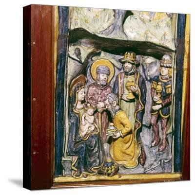 Adoration of the Magi, Faenza, Italy, c1490-Unknown-Stretched Canvas Print